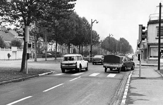 Le carrefour avec la rue Léon Marlot - Photo archives municipales