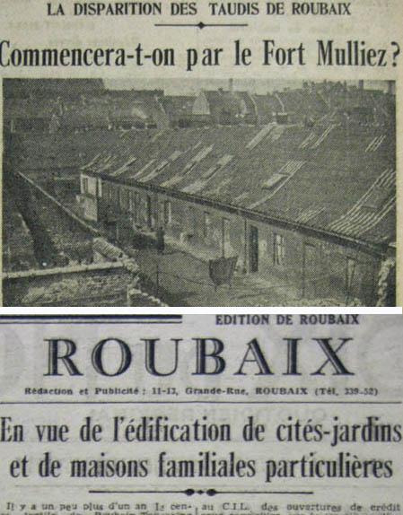 Documents Journal de Roubaix 1944 - La Voix du Nord 1945