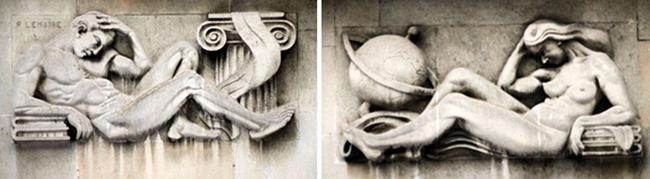 Sculptures de façade Photos PhW