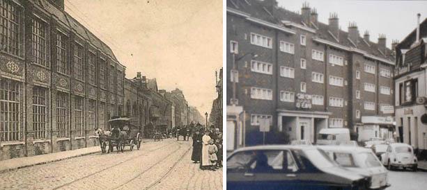 La place Nadaud – avant et après – photos coll. Particulière et archives municipales