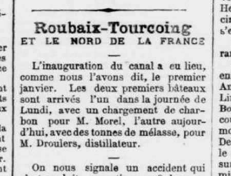 Journal du Roubaix du 04-01-1877 – document archives municipales