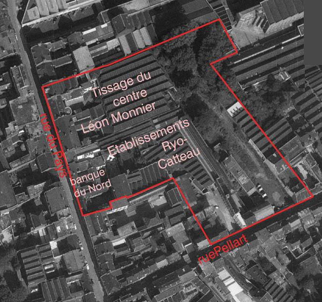 La zone à exproprier – document IGN 1962