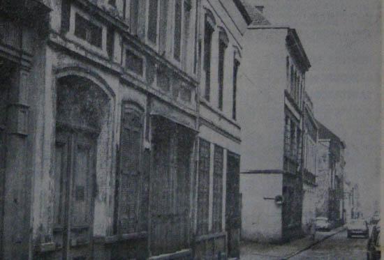 Les bâtiments de la rue Pellart qui vont disparaître – photo Nord Matin 1972.