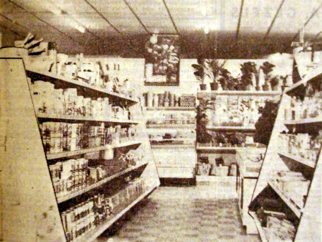 L'intérieur du magasin COOP du Carihem Photo NE