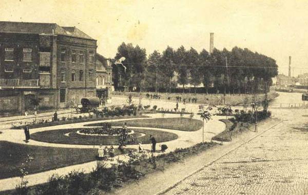 L'ancien jardin public. Au fond, le canal – document coll. particulière