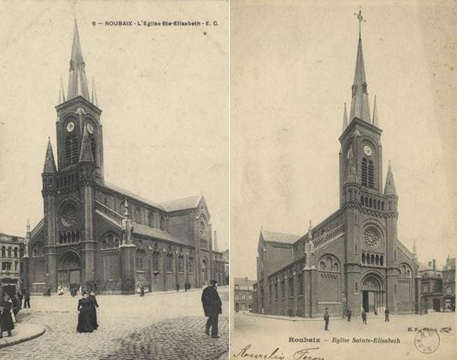 L'église Sainte Élisabeth à la belle époque
