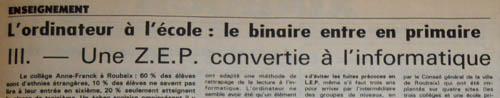 La Voix du Nord de Janvier 1984