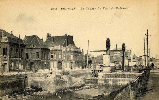 Le pont après déblaiement - Document médiathèque de Roubaix