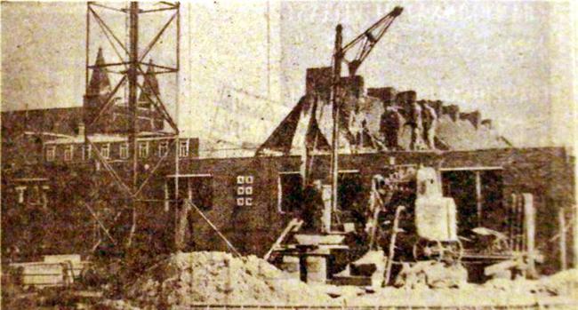 Etat du chantier en 1954 Photo NE