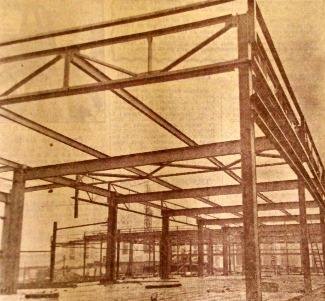 Le chantier en 1972 Photo NE
