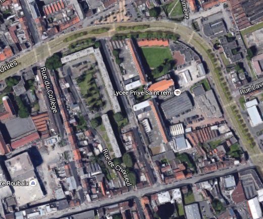 Le square aujourd'hui Google maps