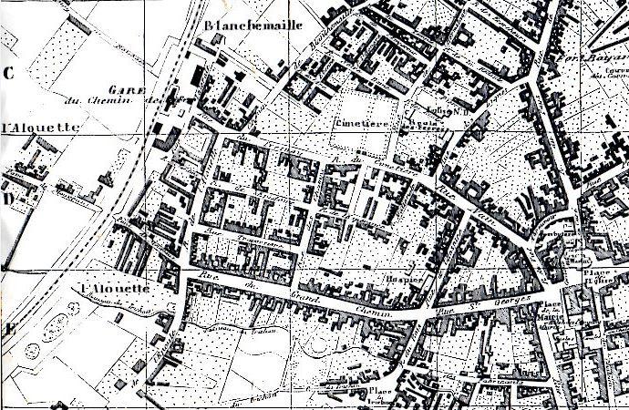 Extrait d'un plan de 1855 Coll Particulière