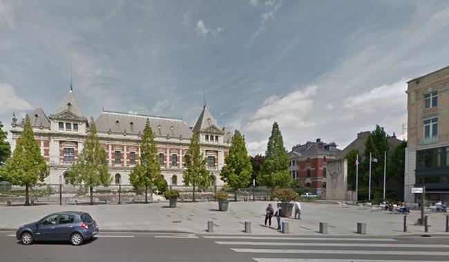 L'esplanade aujourd'hui Extrait Google Maps