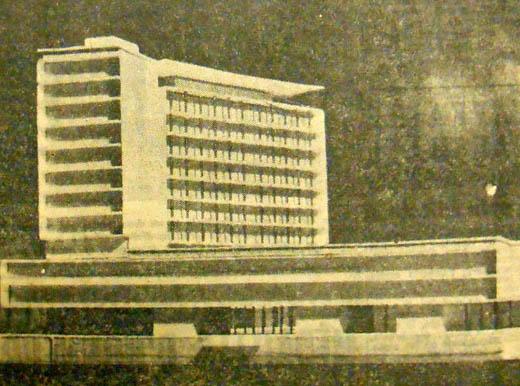 La maquette du futur immeuble. Document la Voix du Nord