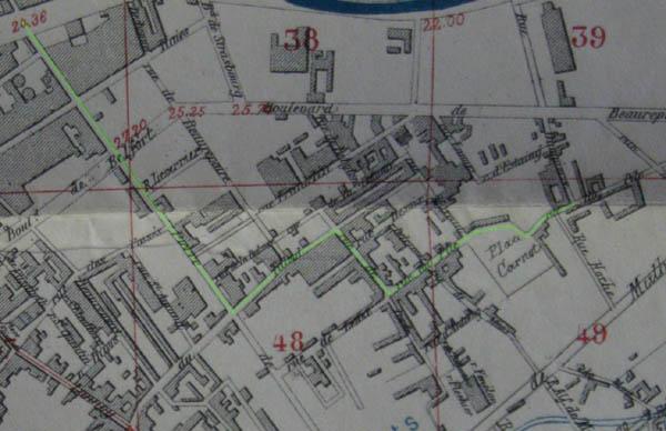 Plan du quartier en 1886