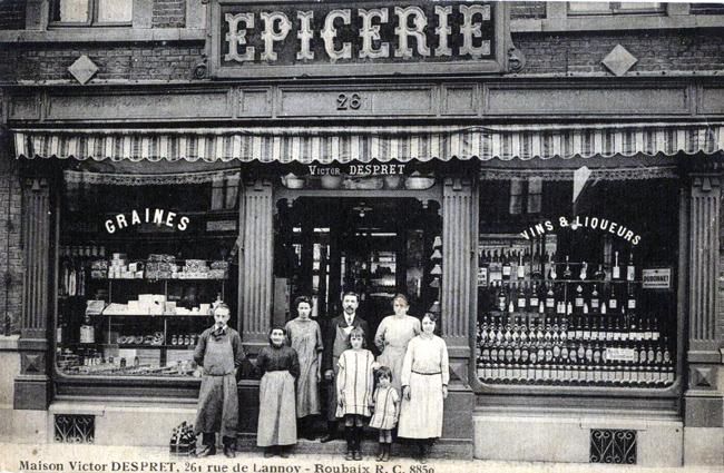 Le magasin de Victor Despret 261 rue de Lannoy CP Méd Rx