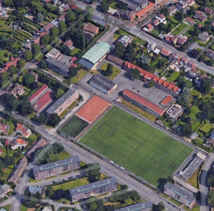 Le stade Maertens aujourd'hui Vue Google maps