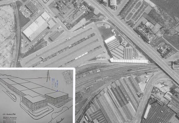 Le nouvel ensemble - Document archives municipales et IGN 1982
