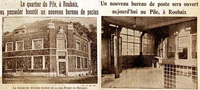 Le bureau du Pile en novembre 1937, et en février 1938 Photos Le Journal de Roubaix