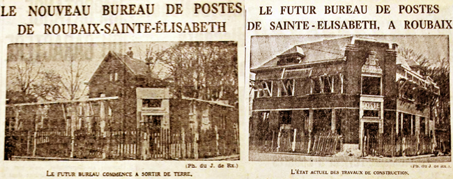 Le bureau du Pile en octobre 1936, puis en mars 1937 Photos Journal de Roubaix