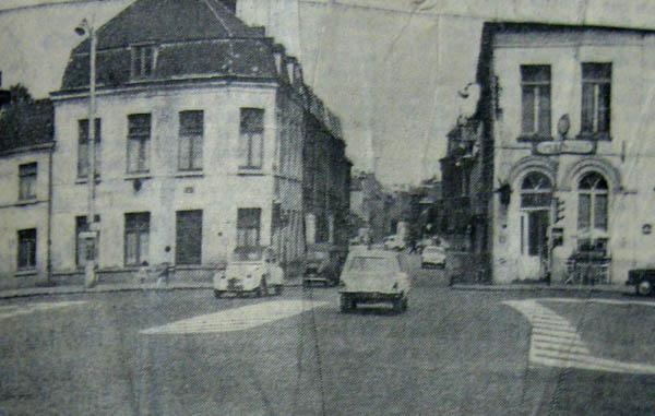 Le carrefour Bd Gambetta-rue Pierre de Roubaix, vers l'Hommelet- la Voix du Nord 1971
