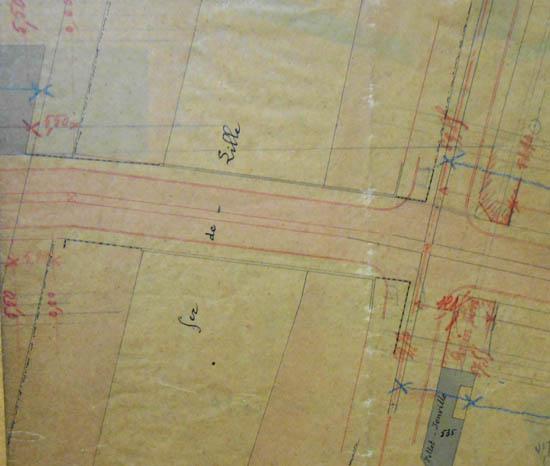 Plan de la traversée du chemin de fer