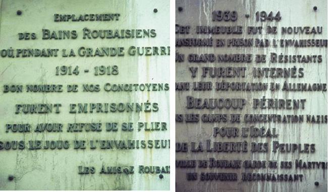 Les deux plaques commémoratives, Photos Lucien Delvarre
