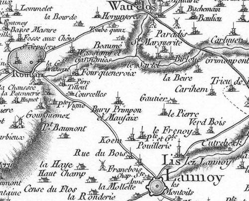 Carte de Cassini, 1740 – document IGN