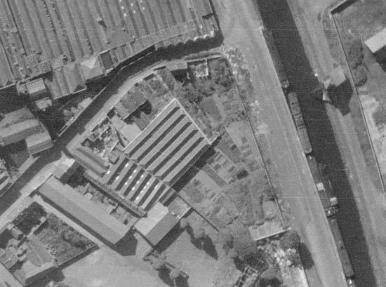 Le nouveau lieu d'implantation – photo IGN 1947