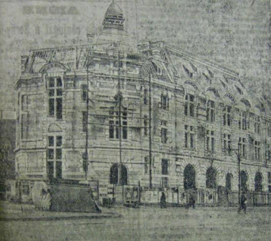L'immeuble en construction – photo JdR