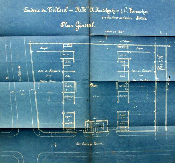 Plan de la fonderie du Tilleul AmRx