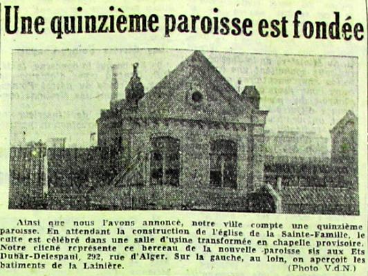 La chapelle provisoire Photo VDN