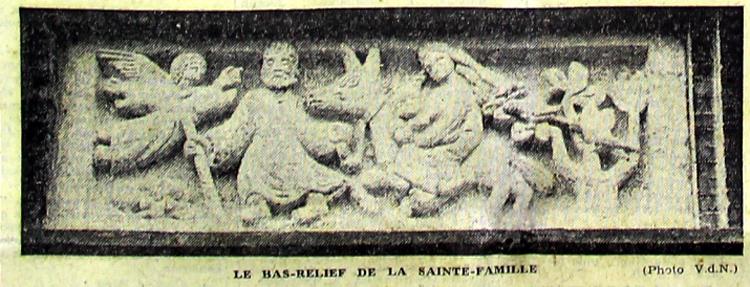 Le bas relief de la Sainte Famille Photo VDN