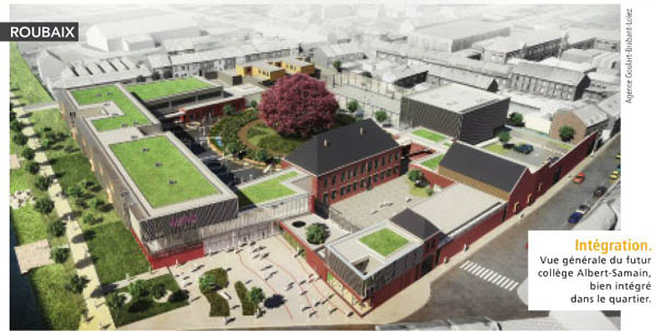 Le futur collège – document de l'architecte – la Voix du Nord