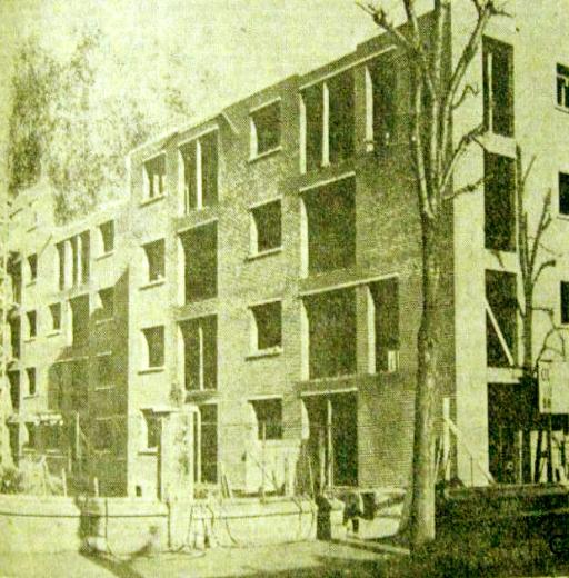 Etat du chantier en 1952 Photo NE