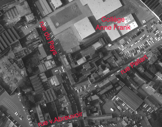 Le quartier en 1975 – photo IGN