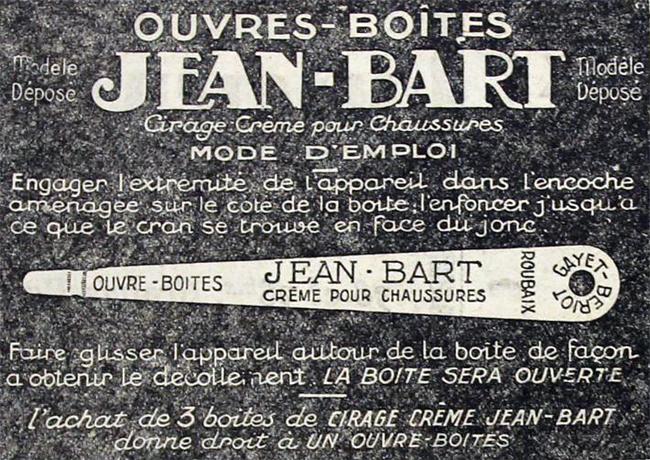 L'ouvre boîte Jean Bart pub JdeRx