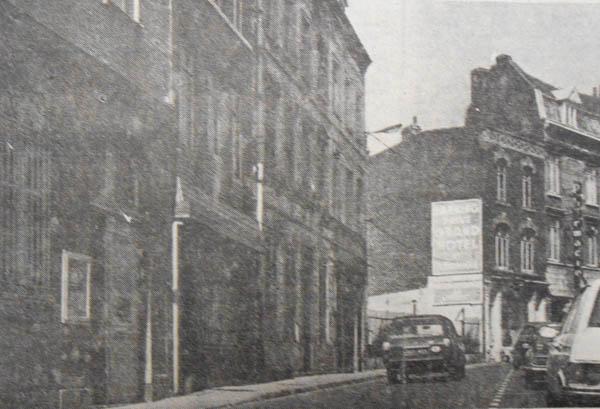 Les immeubles à démolir rue du vieil Abreuvoir – photo Nord Eclair 1955
