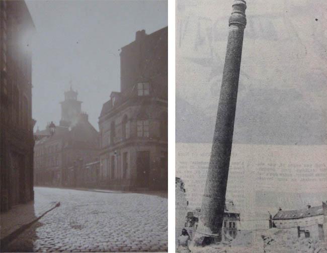 La rue des Lignes en 1926 – La chute de la cheminée Pollet - photo Nord Eclair
