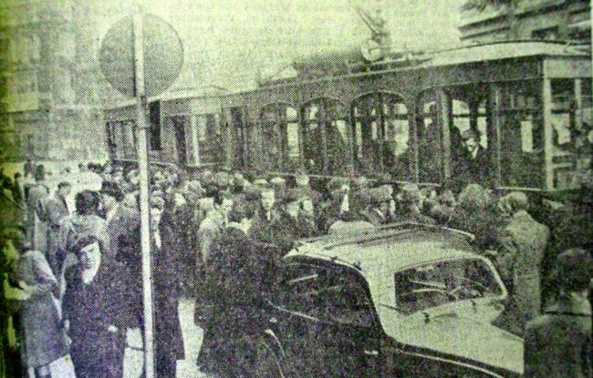Tramways sur la Grand Place Photo NE