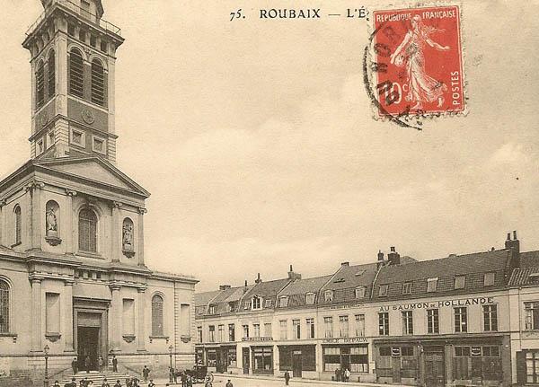 L'église et la rue Saint Pierre – collection particulière