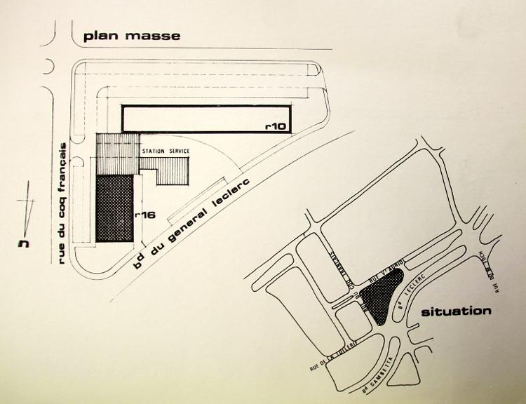 Le projet, plan masse doc AmRx