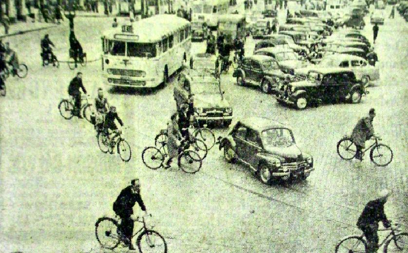 La Grand Place en 1955 Photo NE
