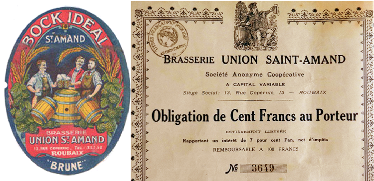 Carton et action de la brasserie St Amand Coll Particulière