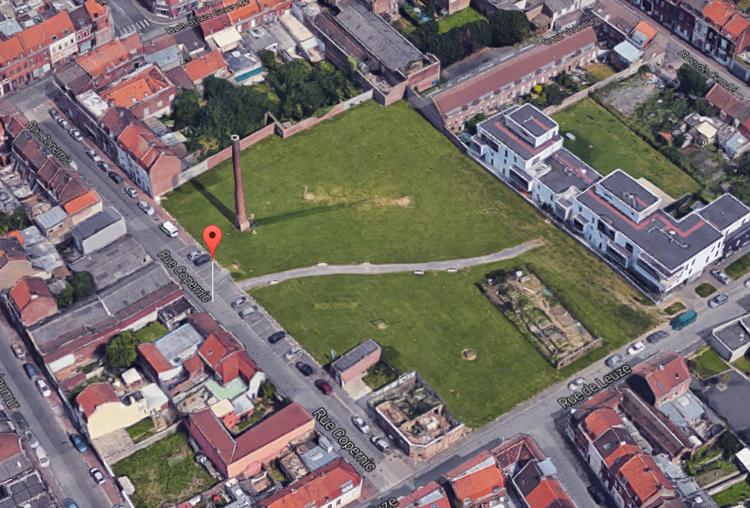 La rue Copernic aujourd'hui Vue google maps