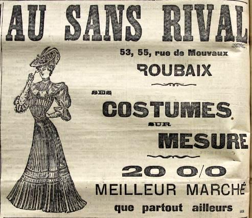 Au sans Rival n°53/55 Pub Journal de Roubaix