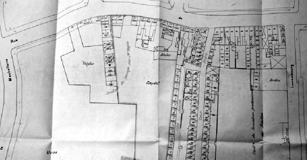 Plan de la rue de Mouvaux avant 1975 doc AmRx