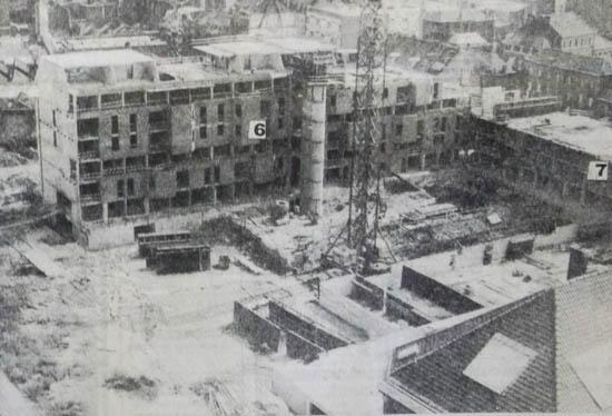 Les immeubles en construction au coin des rues Nain et des Lignes. Photo LVDN