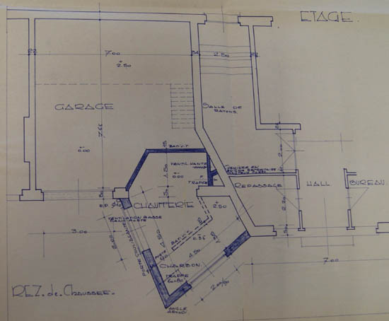 Projet d'aménagement 1963 ( archives municipales )