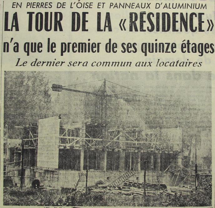 Situation du chantier en octobre 1957 Photo NE